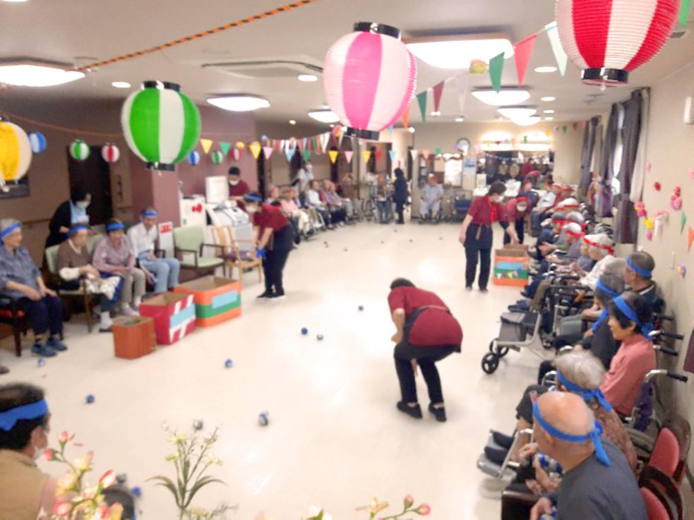 有料老人ホームの運動会